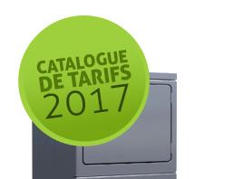 CATALOGUE DE TARIFS 2017