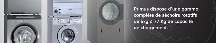 Primus dispose d'une gamme complète de séchoirs rotatifs de 5kg à 77 Kg de capacité de chargement