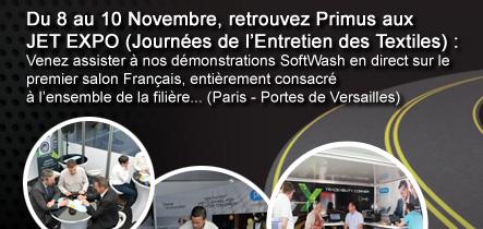 Du 8 au 10 Novembre, retrouvez Primus aux JET EXPO